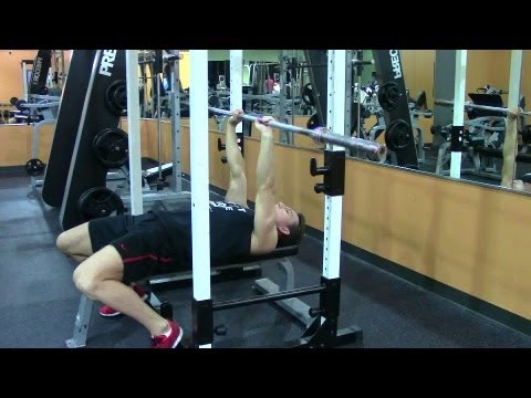 Close Grip Bench - HASfit Triceps Exercise Demonstration - Close Bench Triceps Press - Tricep