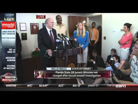 FL State Attorney Willie Meggs not charging Jameis Winston Press Conference (PART 2 )