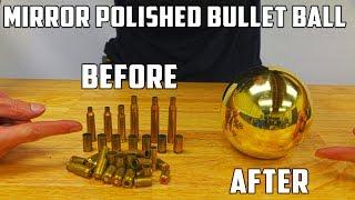 Casting Mirror Polished Brass Ball from Molten Brass (Japanese Aluminium Foil Ball Sequel) width=