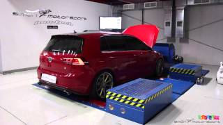 getlinkyoutube.com-VW Golf 7 GTI 315HP Stage 1+ with full iPE Exhaust dyno run @ Simon Motorsport Dubai
