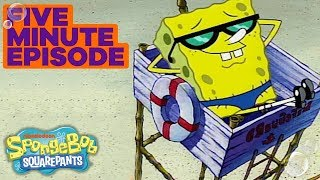 SpongeBob SquarePants: SpongeGuard On Duty 🏖️ in 5 Minutes | #TBT width=