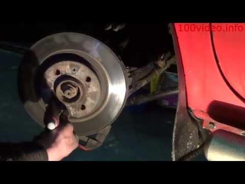 KANGOO замена передних тормозных дисков и колодок