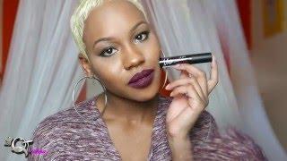 getlinkyoutube.com-LA Girl Matte Flat Finish Pigment gloss Liquid Lipstick Review & Swatches