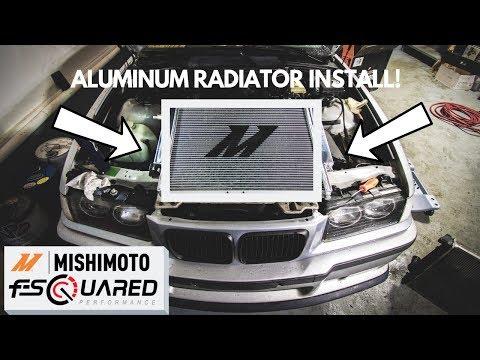 MISHIMOTO ALUMINUM RADIATOR INSTALL! (E36/E30)