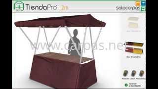 getlinkyoutube.com-Puesto plegable para mercados TiendaPro™ - Simulador 3D - www.carpas.net