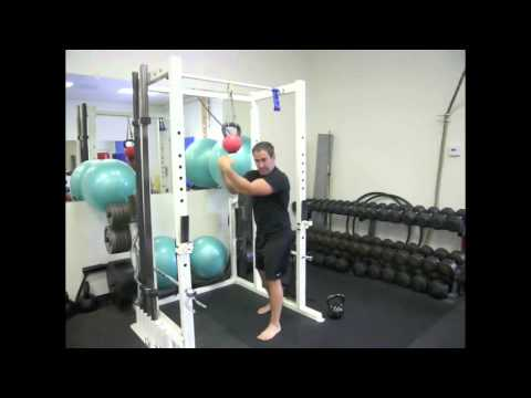 Muay Thai Clinch - KettleBell Chin Up Exercise