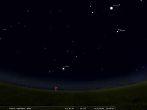 03.03.2012 Mars najbli�ej Ziemi - opozycja planety