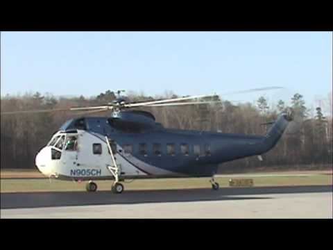 S 61 Sikorsky Helicopter taking off from GKT