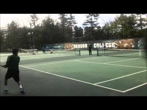 Babson Men's Tennis vs. UMass-Boston (4/17/14)