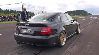 getlinkyoutube.com-1000HP+ Audi S4 B5 Anti-Lag Sound! Flames & Accelerations!
