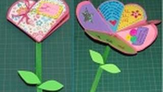 getlinkyoutube.com-Manualidad para San Valentín: Carta de Corazón a Flor