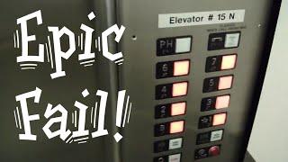getlinkyoutube.com-Epic elevator fail. Stuck at Penthouse Steinberg elevators Otis elevator