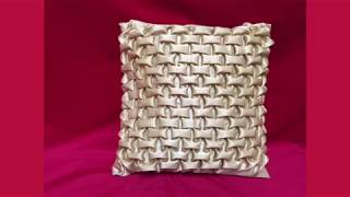 getlinkyoutube.com-How to make a very beautiful cushion using Smocking (brick design) by Rose