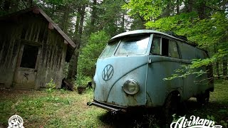 getlinkyoutube.com-RESURRECTION - Rescue of a VW 1955 panelvan - Forest find !