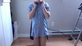getlinkyoutube.com-DIY - How to make a dress out of a mens dress shirt