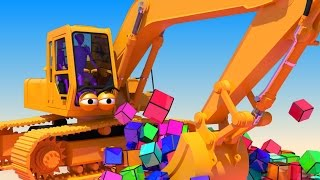getlinkyoutube.com-VIDS for KIDS in 3d (HD) - Excavator, Digger Henry at work with Cubes - AApV
