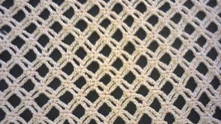 getlinkyoutube.com-Узор сеточка (вязание крючком). Mesh pattern (Crochet).