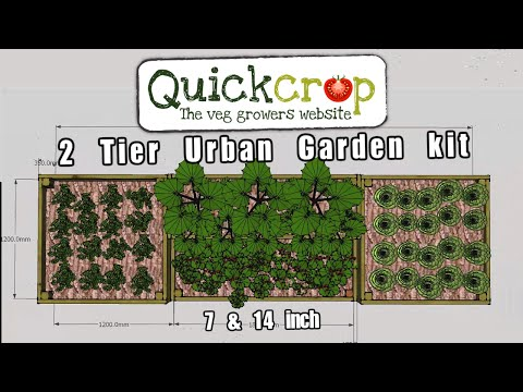 2 Tier Urban Garden Kit   7 & 14 Inches