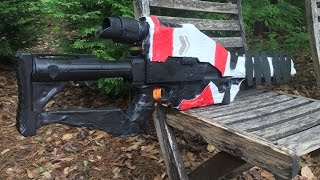 "getlinkyoutube.com-Real Life ""Ice Breaker"" from Destiny (Functional Nerf Gun Replica)"