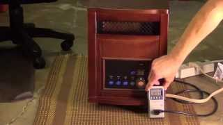getlinkyoutube.com-Life Smart Infrared Heater, Shutting Off - Cools - Turns Back On, Thermostat switch KSD301