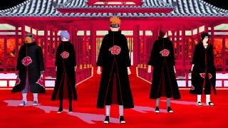 getlinkyoutube.com-【MMD】暁五人で威風堂々【NARUTO】