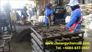getlinkyoutube.com-Hexagonal  coconut shell charcoal briquette