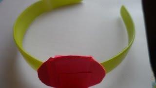 getlinkyoutube.com-Мастер класс Как прикрепить основу для цветка Канзаши