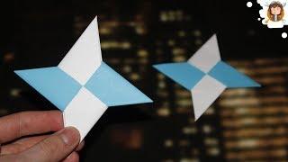 getlinkyoutube.com-Como fazer uma Estrela Ninja de Papel - Shuriken