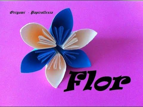 Origami - Papiroflexia. Flor de 6 pétalos, muy fácil