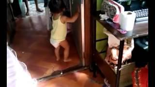getlinkyoutube.com-Baby Dionne is walking