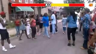 getlinkyoutube.com-Gorda dandole una tremenda Paliza a 2 Mujeres Street Fighter Edition