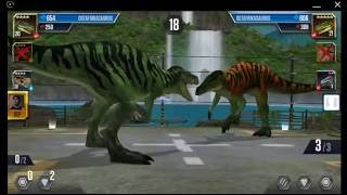 getlinkyoutube.com-Jurassic World: The Game - Player Duel Battle 733 - PTERODACTYLUS!
