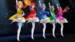 getlinkyoutube.com-[mmd] Magical girls - Miku, Gumi, Luka, Neru, and Teto - Sentai Slender Legs