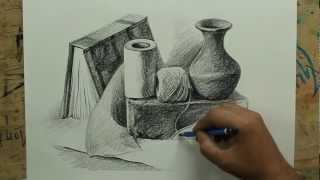 getlinkyoutube.com-Still Life with pencil by artist sikander singh.m4v