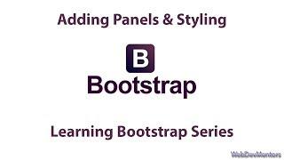 getlinkyoutube.com-Adding Panels & Styling in Bootstrap