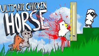 getlinkyoutube.com-SAVE THE ANIMALS!! Let's Play Ultimate Chicken Horse (Funny Moments)