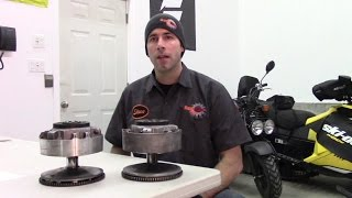 Ski-Doo TRA Clutch disassembly, inspection and assembly by RawFuelTV