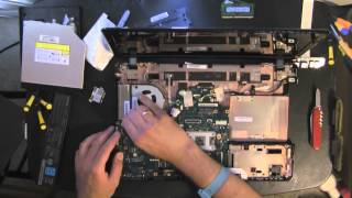 getlinkyoutube.com-TOSHIBA P755 take apart video, disassemble, how to open disassembly