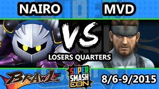 getlinkyoutube.com-Super Smash Con - MVD (Snake) Vs. Nairo (Meta Knight) - Losers Quarters - SSBB