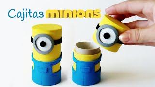 getlinkyoutube.com-Manualidades: Cajitas MINIONS con tubos de cartón - Innova Manualidades