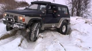 getlinkyoutube.com-Nissan Patrol Y60 4.2D off-road rear diff lock front arb