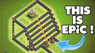 "Clash Of Clans | INSANE TROLL BASE ""THE STAIRWAY TO HEAVEN"" 