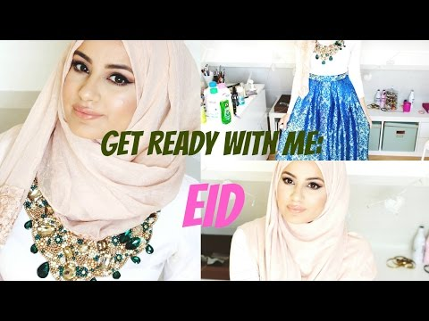Get Ready With Me : EID! Make-up Tutorial, Hijab Tutorial & OOTD!