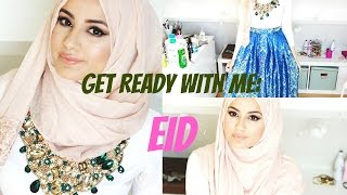 Get Ready With Me : EID! Make-up Tutorial, Hijab Tutorial & OOTD! | Hijab Hills