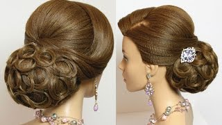 getlinkyoutube.com-Bridal wedding updo. Hairstyles for long hair tutorial