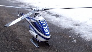 getlinkyoutube.com-3 Blade Urukay SAB Goblin Division newest Technology RC Helicopter F3C fly in the Swiss Snow