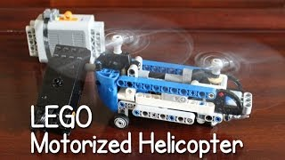 MOTORIZED Lego Technic 42020 Twin Rotor Helicopter - Time Lapse