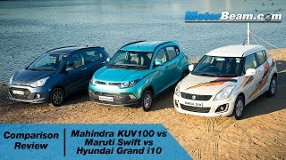 getlinkyoutube.com-Mahindra KUV100 vs Maruti Swift vs Hyundai Grand i10 - Comparison Review | MotorBeam