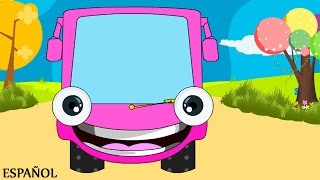 getlinkyoutube.com-Wheels on the Bus Go Round and Round | Nursery Rhymes - Spanish  (Canciones infantiles)