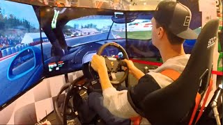 getlinkyoutube.com-Germany Pt2 - ActoRacer Sim Rig Race! LPN VS SLAP + Drift Runs/truck #NitroNation #EssenMotorshow